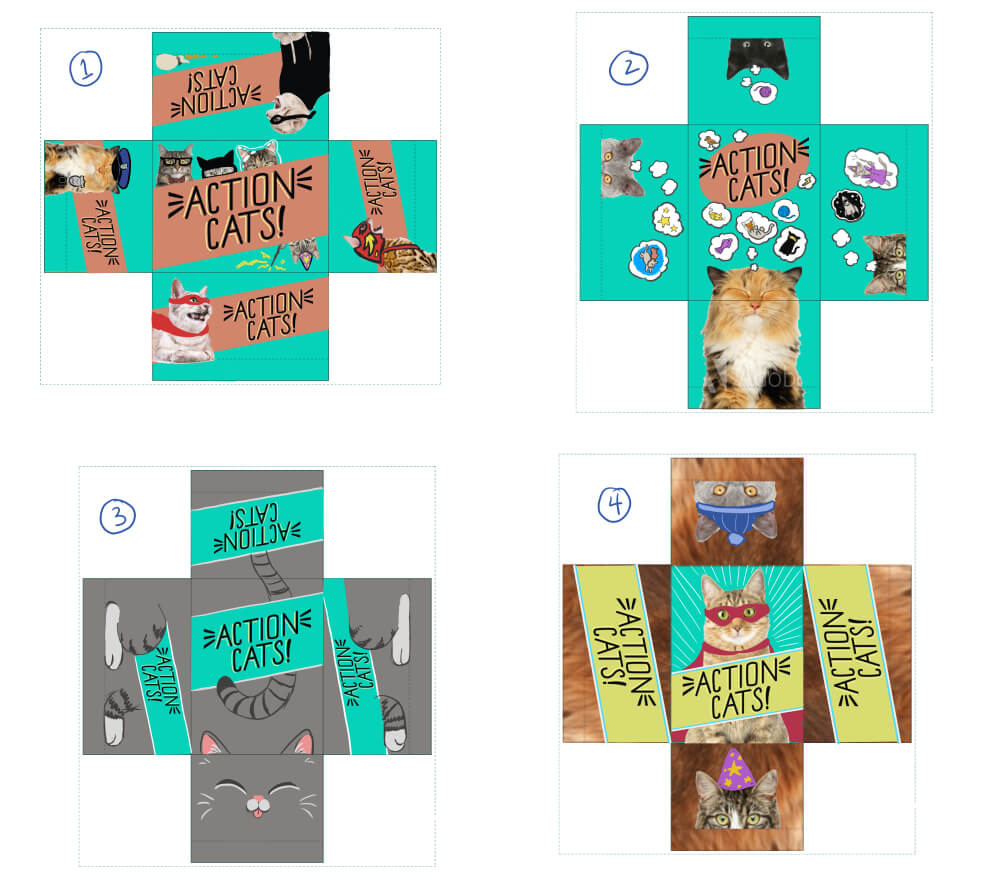 Action Cats box concepts