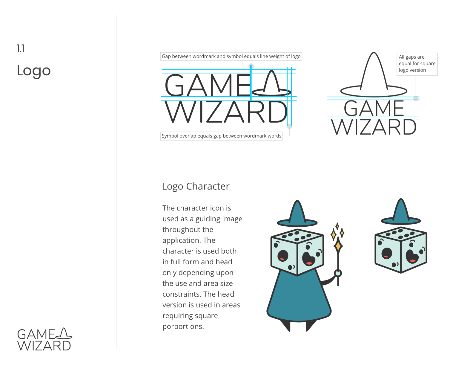 Gamewizard logo and styleguide graphic